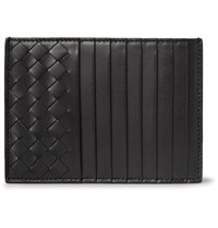 Bottega Veneta Intrecciato Leather Cardholder Black