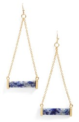 Junior Women's Leith Stone Bar Drop Earrings