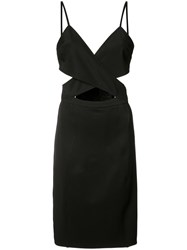 Zac Posen Adella Cross Strap Dress Black