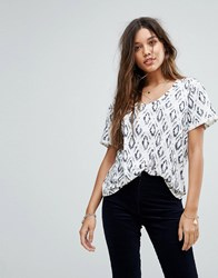 Maison Scotch All Over Print T Shirt 20 Combo D White