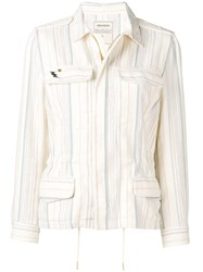 Zadig And Voltaire Striped Pattern Jacket Neutrals