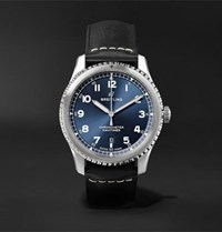 Breitling Navitimer 8 Automatic Chronometer 41Mm Steel And Leather Watch Blue