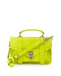 Ps1 Tiny Leather Mail Bag Yellow Proenza Schouler