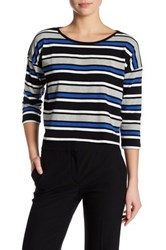 French Connection Stripe Long Sleeve Shirt Multi