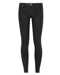Ted Baker Annna Wax Finish Skinny Jeans Black