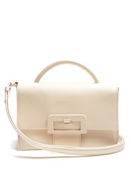 Maison Martin Margiela Buckle Detail Cross Body Bag Light Beige