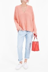 Alexander Wang T By Women S V Neck Pullover Boutique1 Pink