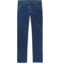 Canali Stretch Cotton And Cashmere Blend Jeans Mid Denim