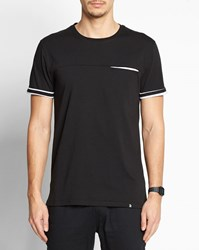 Roscoe Black And White Tero Striped T Shirt With Striped Detail Multicolour