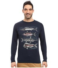 O'neill Catch Long Sleeve Screen Tee Imprint Navy Men's T Shirt