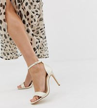 Truffle Collection Wide Fit Bridal Stiletto Barely There Heeled Sandals Copper