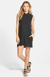 Rvca 'Nothing Else' Hoodie Dress With Pockets Black