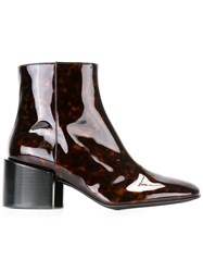 Paul Smith 'Rozel' Tortoiseshell Ankle Boots Brown