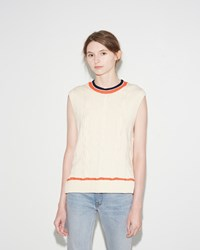3.1 Phillip Lim Collegiate Sleeveless Tank White
