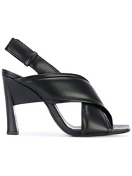 Marni Criss Cross Structural Sandals Women Calf Leather Leather 36 Black