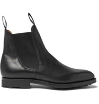 Edward Green Newmarket Grained Leather Chelsea Boots Black