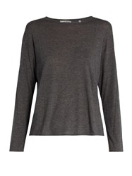 Vince Long Sleeved Crew Neck Top Grey