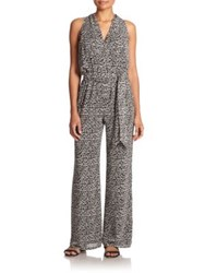 Tory Burch Tribal Print Silk Jumpsuit Multi