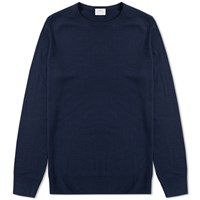 Sunspel Crew Knit Jumper Blue