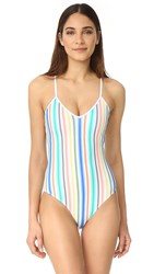 Shoshanna String One Piece Ombre Stripe