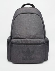 Adidas Originals Backpack In Faux Croc Grey Black