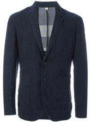 Burberry Fitted Blazer Jacket Black