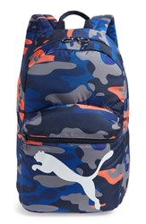 Puma Essential Backpack Blue Blue Orange