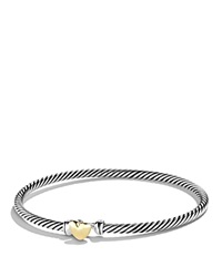 David Yurman Cable Collectibles Heart Bracelet With Gold Silver Yellow Gold