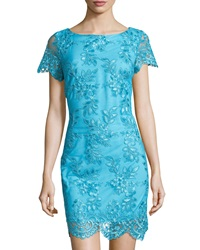 Alexia Admor Floral Lace Sheath Dress Aqua