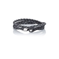 Miansai Ipsum Wrap Bracelet Antique Grey