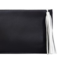 Shaffer Los Angeles Alexa Pouch Black With Gun Metal Zipper