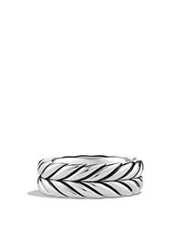 David Yurman Chevron Band Ring Silver