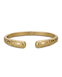 Temple St. Clair Nomad Bella Bangle With Diamonds In 18K Yellow Gold Gold White