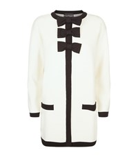 Boutique Moschino Bow Detail Collarless Coat Female Black