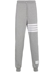 Thom Browne Sweatpants With Engineered 4 Bar Stripe Grey