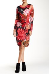 Desigual Side Gathered Dress Multi