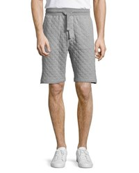 Jachs Ny Quilted Drawstring Cotton Shorts Gray