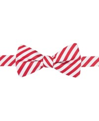 Countess Mara Men's Red And White Stripe Pre Tied Bow Tie