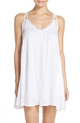 Women's Elan Crochet Racerback Cover Up Dress White
