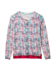White Stuff Fern Print Cardi Multi Coloured Multi Coloured