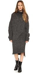 Superfine Bomber Sweater Dress Black