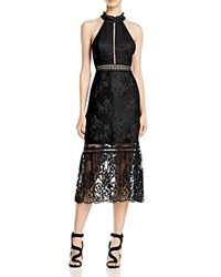 Abs By Allen Schwartz Halter Lace Cocktail Dress Black