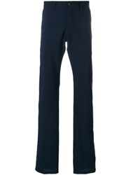 Armani Collezioni Tailored Fitted Trousers Polyester Blue