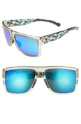 Adidas Women's 3Matic 60Mm Sunglasses Clear Brown Camo Blue Mirror Clear Brown Camo Blue Mirror