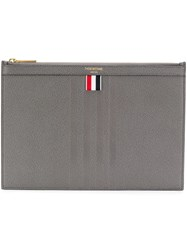 Thom Browne 4 Bar Emboss Small Tablet Holder Grey