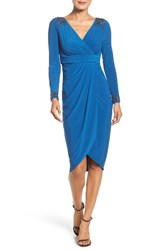 Adrianna Papell Women's Embellished Wrap Cocktail Dress