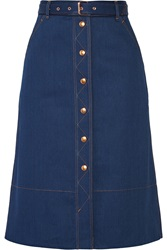 Rag And Bone Branson Belted Denim Skirt
