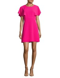 Kensie Crepe A Line Dress Bright Fuschia