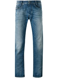 Diesel Akee Slim Fit Jeans Men Cotton Spandex Elastane Lyocell 32 30 Blue