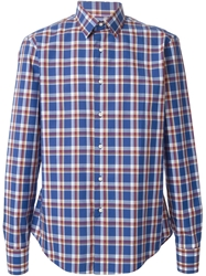 Stella Jean 'Catanzaro' Check Print Shirt Blue